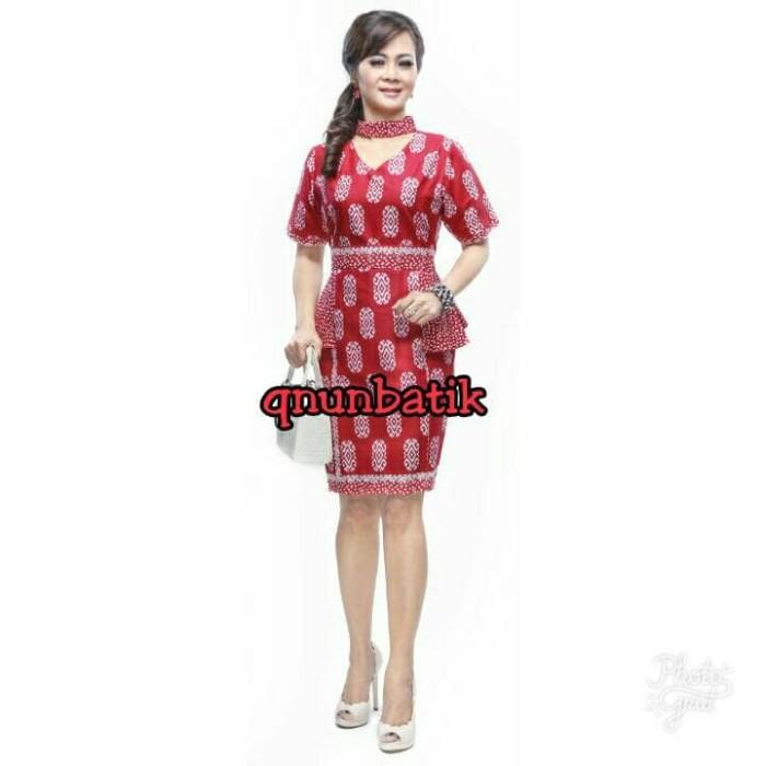 harga Dress terusan batik jumbo xl cewek wanita qinta beras merah Tokopedia.com