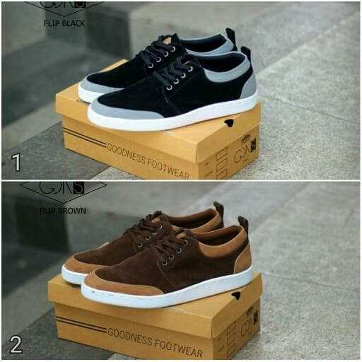 Sepatu kasual pria goodness flip original