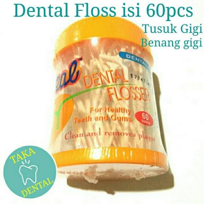 Jual Dl 26 Dental Floss Tusuk Gigi Benang Gigi Pembersih Gigi Behel