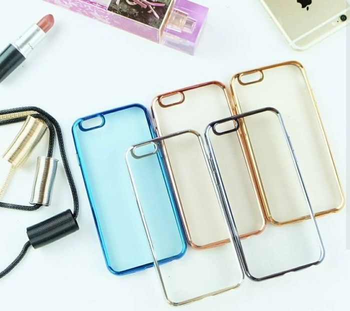 Chrome Jelly Case Ip Iphone 4 5 6 6+ Plus Samsung Grand Prime Casing - Blanja.com