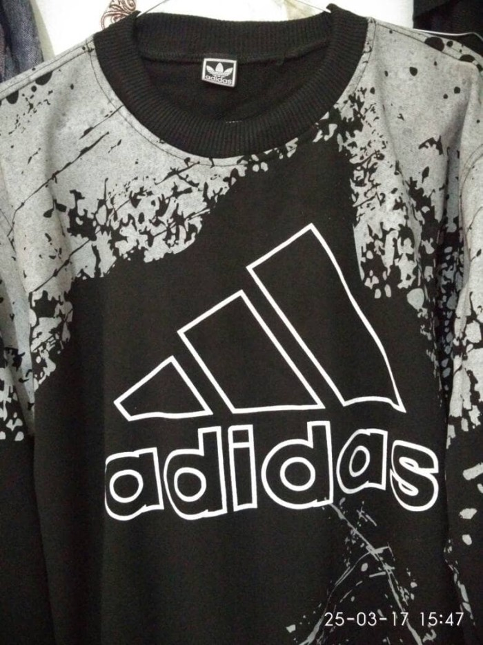 L5328 Sweater Pria Adidas Abstrak Oblong Hitam KODE PL5328
