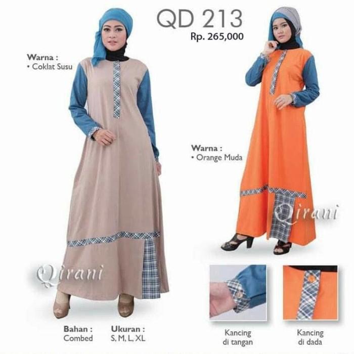 Jual Gamis Qirani Melati Qd 213 Dress Muslim Butik Shend Tokopedia