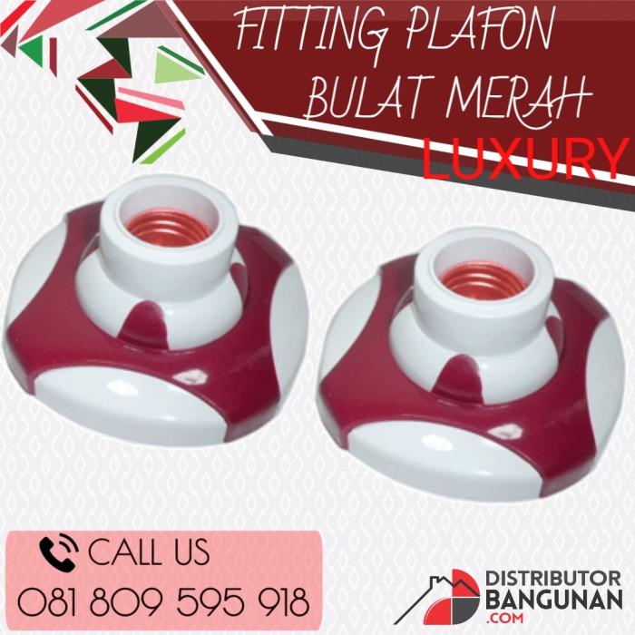 Fitting Plafon Lampu Bulat Merah Luxury