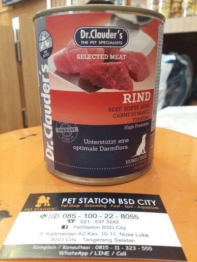 harga Makanan anjing basah kornet dr.clauders rind beef 800g Tokopedia.com