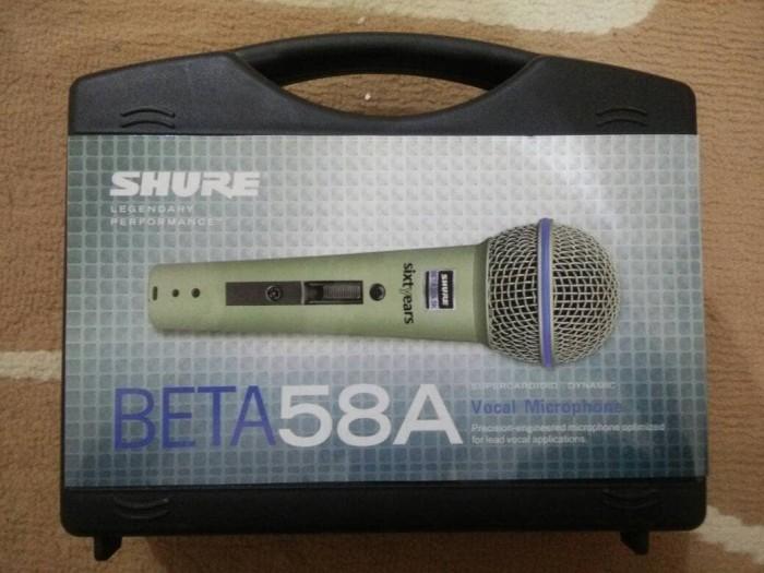 harga Mic kabel shure beta 58a, beta58a utk audio,karaoke,studio,recording Tokopedia.com
