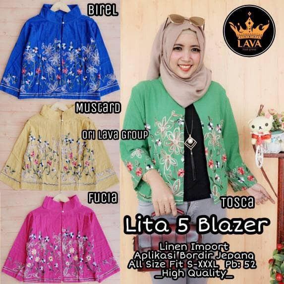 Ayako Fashion. Source · Baju Wanita Atasan Muslim Blouse lita #5 Blazer