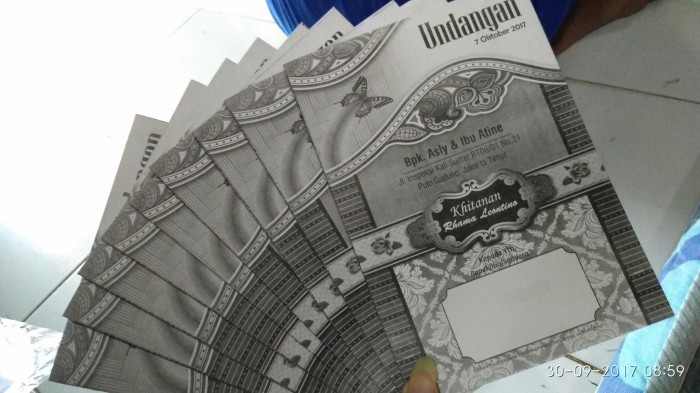 Foto Produk Cetak Undangan Khitanan Termurah - Express dari Bekasi Printing