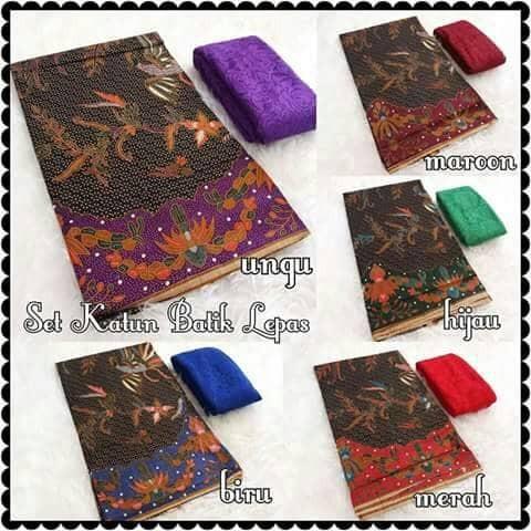 harga Set kain kebaya bali murah bahan brukat brokat dan katun batik Tokopedia.com