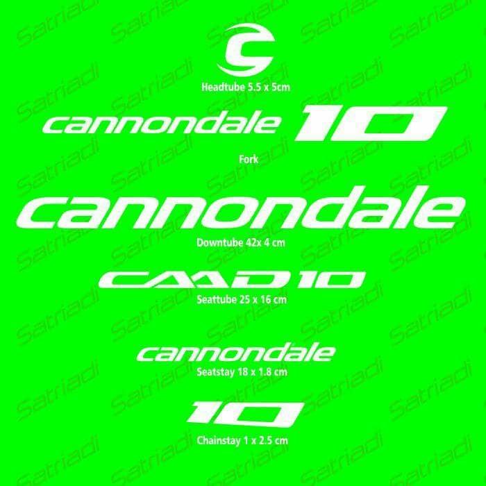 harga Stiker frame sticker decal sepeda cannondale caad10 Tokopedia.com