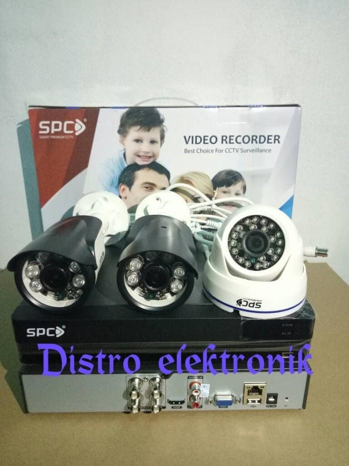 Paket cctv spc 4ch ahd 2 mp full hd 1080p 3 camera
