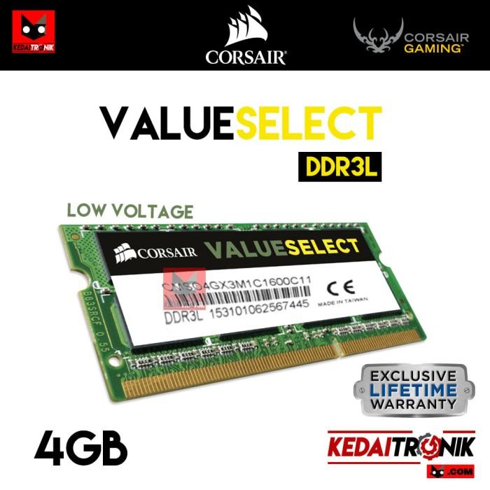 harga Ram sodimm ddr3l 4gb corsair low voltage c11 memory notebook value Tokopedia.com