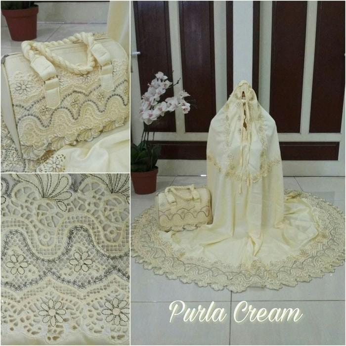 NAC - Mukena Purla Sutra Velvet - Cream