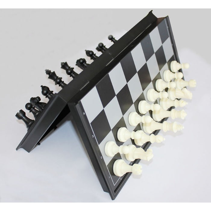 Permainan Papan Catur Magnet dan Checker 2 in 1 Folding Diskon