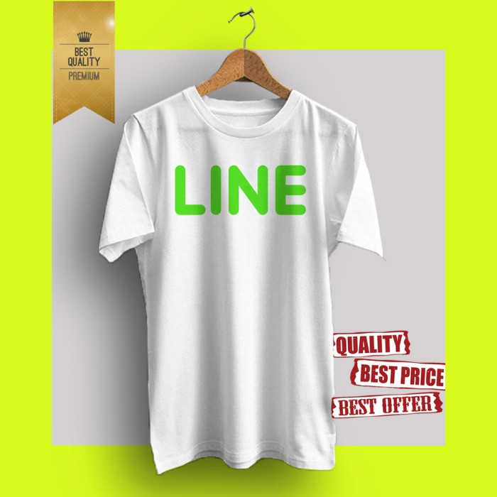 Baju kaos t-shirt distro hot promo branded line ln04