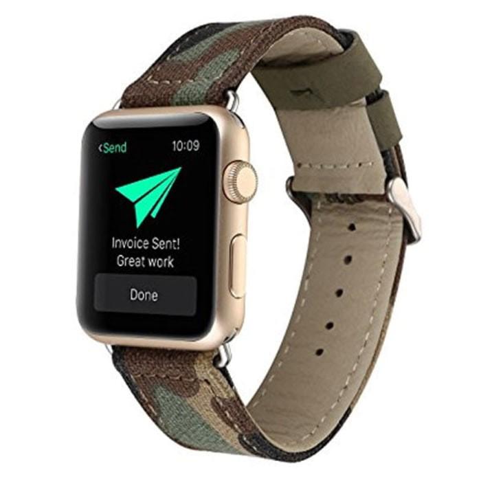 Foto Produk ISTOMP Fabric Army Strap for Apple Watch 42mm - Green dari PremiumCases