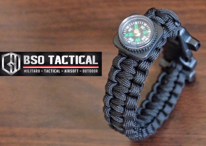 harga Gelang paracord tactical outdoor military brecelet with compass import Tokopedia.com