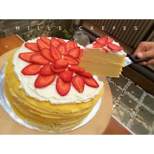 Jual Kue Ulang Tahun Bandung Mille Crepes 20 Cm Kota Bandung Rolling Pin Sugar Art Tokopedia