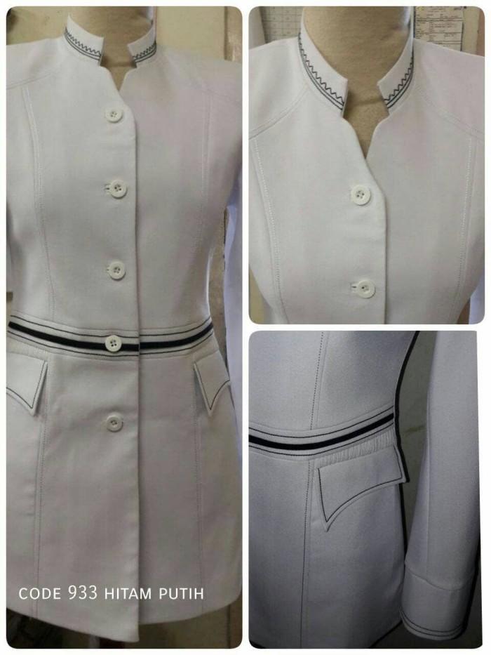 Jual Atasan Baju Blazer Putih Cantik Murah Wanita Modis