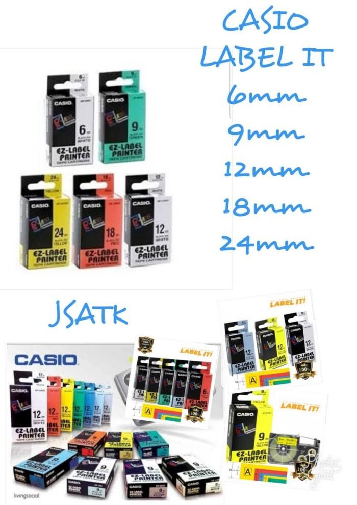 harga Ez label printer casio 12mm black ink Tokopedia.com
