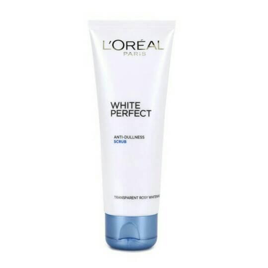 harga L'oreal white perfect facial scrub Tokopedia.com