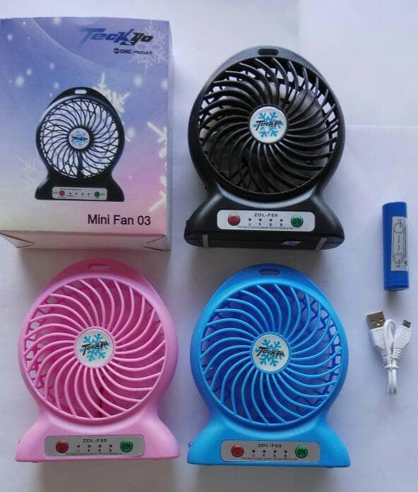 harga Promo natal kipas angin mini usb portabel + powerbank + baterai murah Tokopedia.com