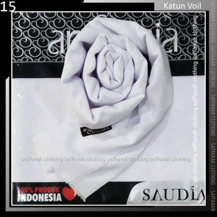 Jilbab Segiempat Rawis Saudia Ansania Square Hijab Warna Putih