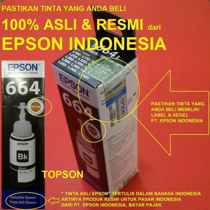 harga Epson 664 t6641 t6642 t6643 t6644 tinta botol l120 l220 l360 l380 l485 Tokopedia.com