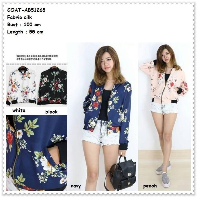 Jual Outer Jaket Jacket Coat Bomber Cardigan Bunga Baju Wanita Korea ... 533fffa2c9