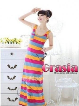 harga Mk2904 gracia rainbow dress baju rajut murah Tokopedia.com