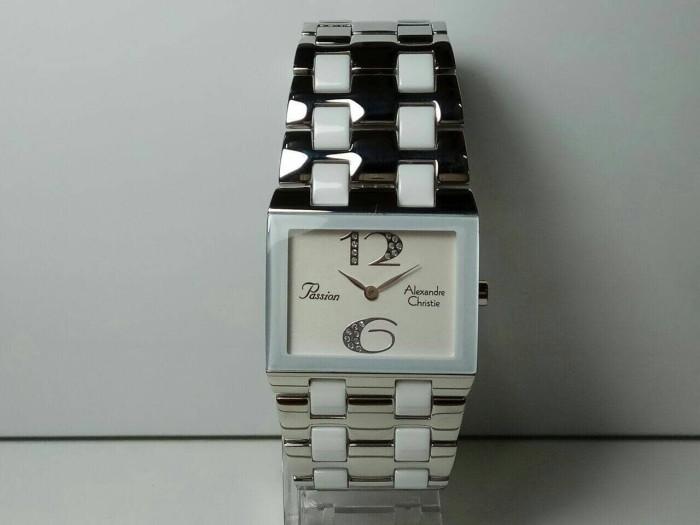 Jual Jam Tangan Alexandre Christie AC 2182 silver ceramic white ... 61e5a8f115