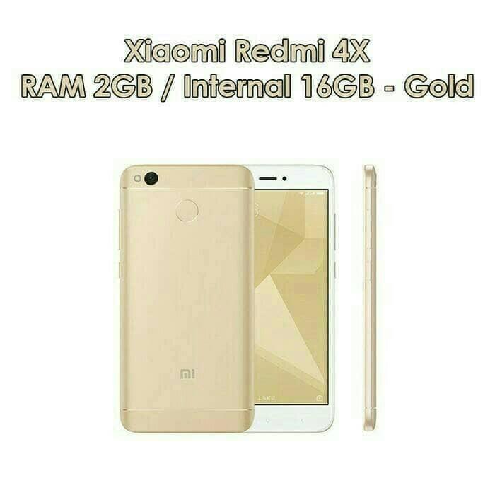 HP XIAOMI REDMI 4X RAM 2GB INTERNAL 16GB (4G LTE) GOLD & BLACK