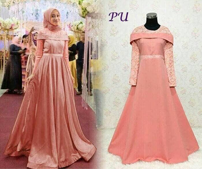 Jual Kamelia Salem Baju Muslim Maxi Dress Gamis Brokat Wanita Bisa Jumbo Kota Cirebon Muslimah Estore Tokopedia