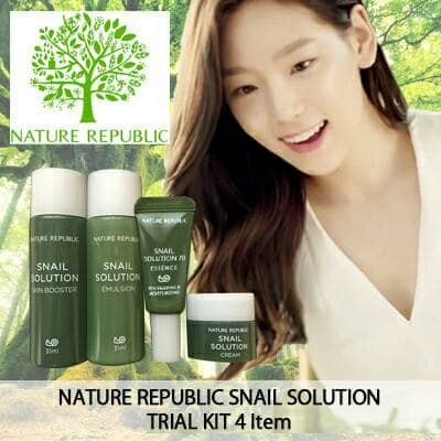 harga (nature republic) snail solution trial kit (4 items) Tokopedia.com