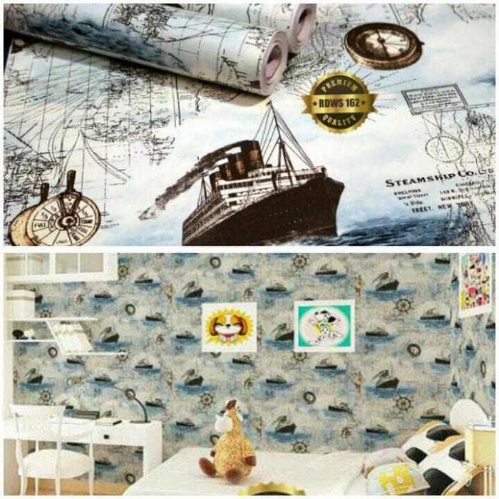 Jual Wallpaper Sticker Dinding Gambar Kapal Laut 10 Meter Dki