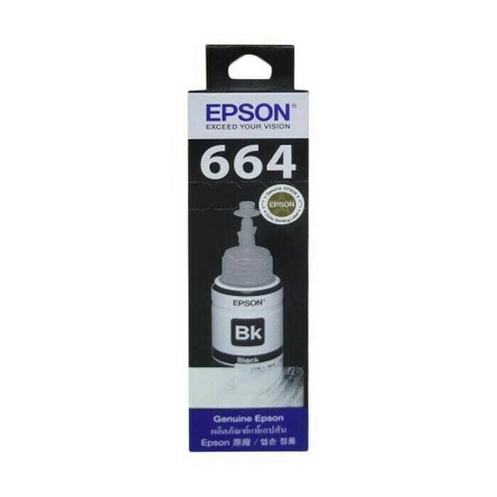 ... harga Epson original 664 t6641 tinta printer for epson l series - black [70 Tokopedia