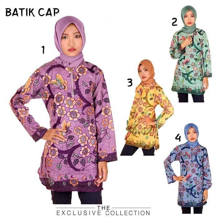 harga Blouse batik blus kerja wanita estu Tokopedia.com