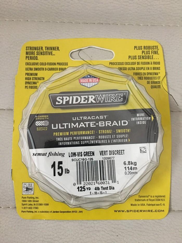 Spider wire ultracast ultimate-braid pe x8 | 15lb 125yd