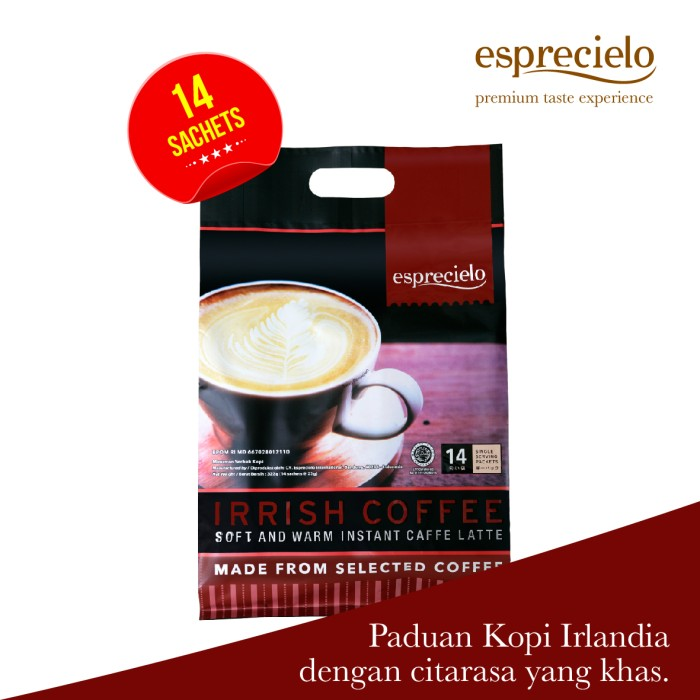 harga Esprecielo Irrish Coffee Eco Bag - 14 Sachet @ 24 Gram Tokopedia.com