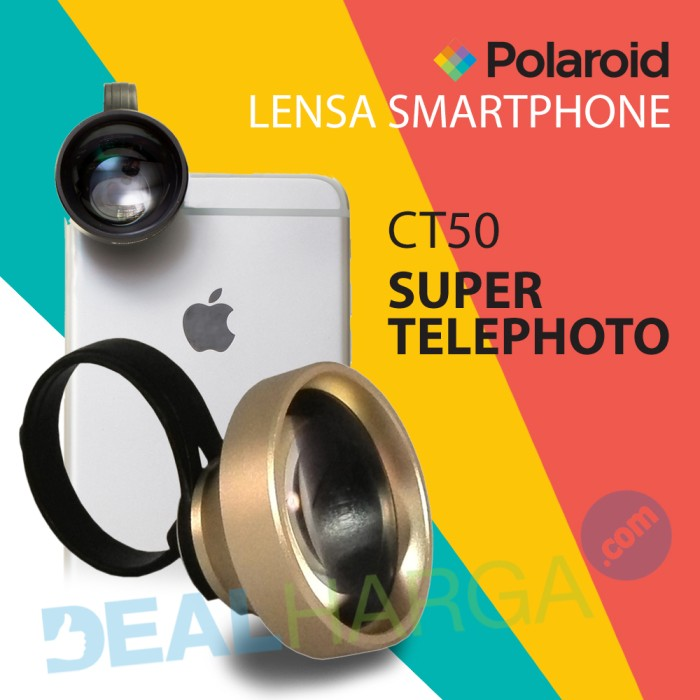 harga Lensa kamera hp super telephoto polaroid ct50 lens - gold Tokopedia.com