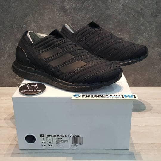 684c17aee0b4 Jual Adidas Nemeziz 17+ Agility 360 Ultra Boost - Triple Black - Kab ...