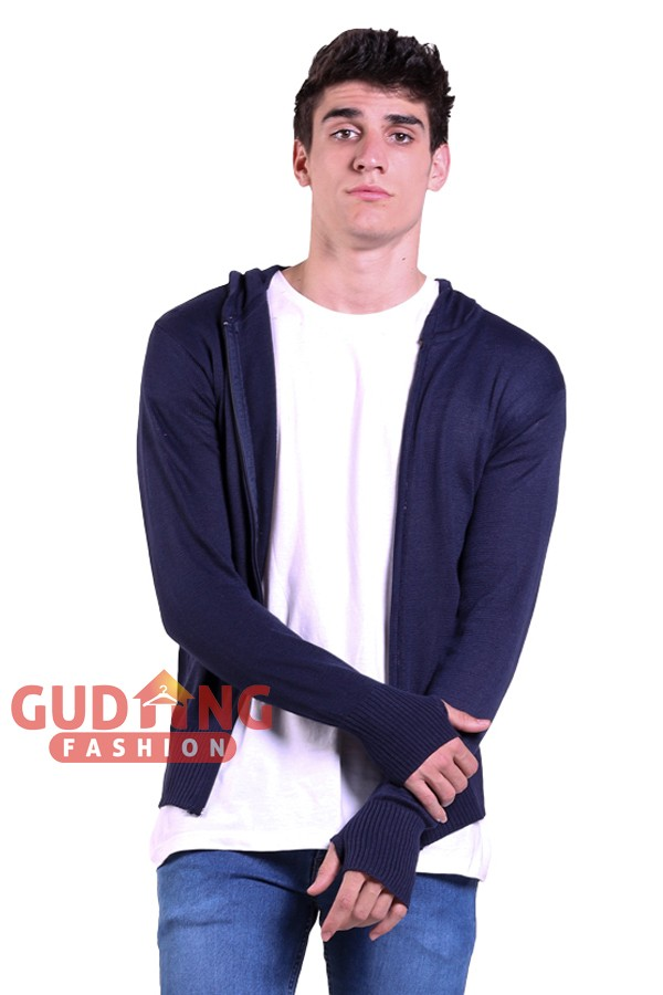 harga Sweater long knit zipper hoodie rajut swe 569 Tokopedia.com