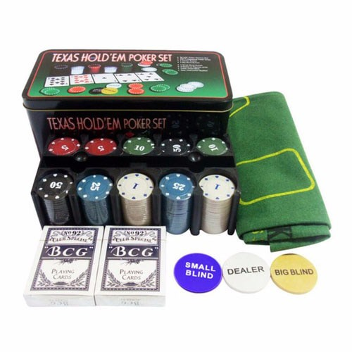harga Texas Hold'em Poker Set Casino Style Poker Chip Tokopedia.com