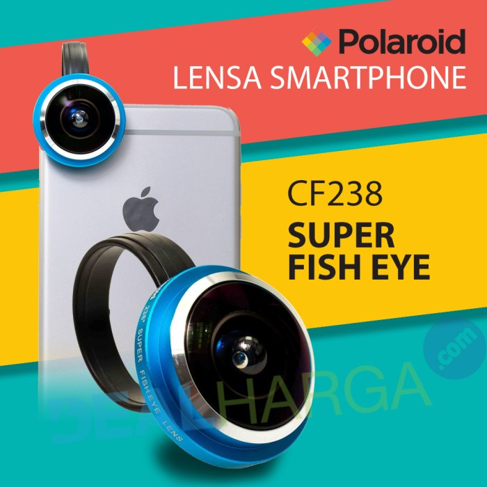 harga Lensa kamera hp super fish eye polaroid cf238 lens - biru Tokopedia.com
