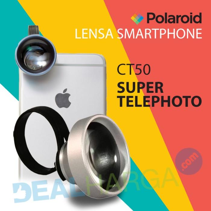 harga Lensa kamera hp super telephoto polaroid ct50 lens - silver Tokopedia.com