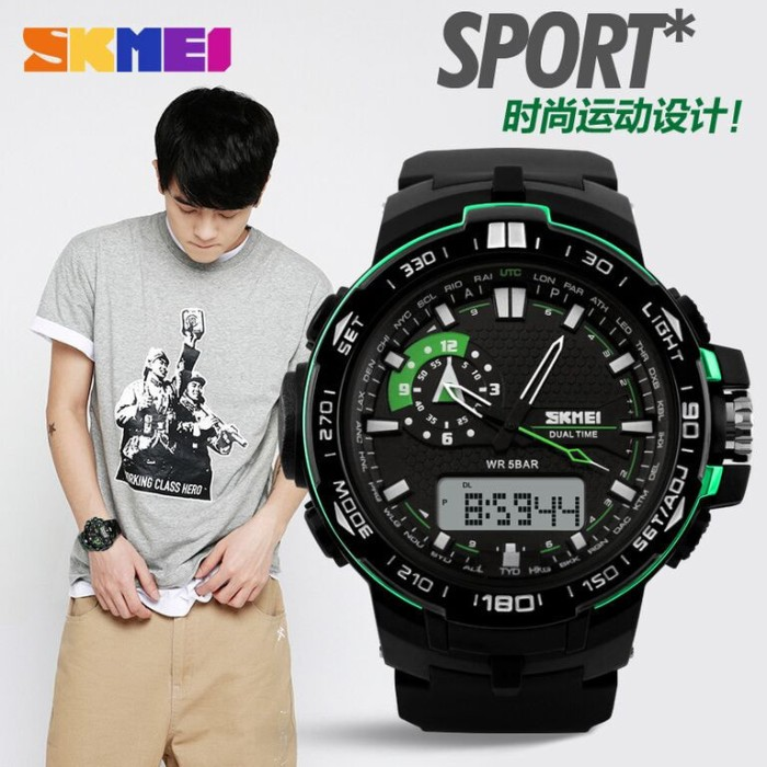 SKMEI Casio Men Sport LED Watch Water Resistant 50m - AD1081 Anti Air