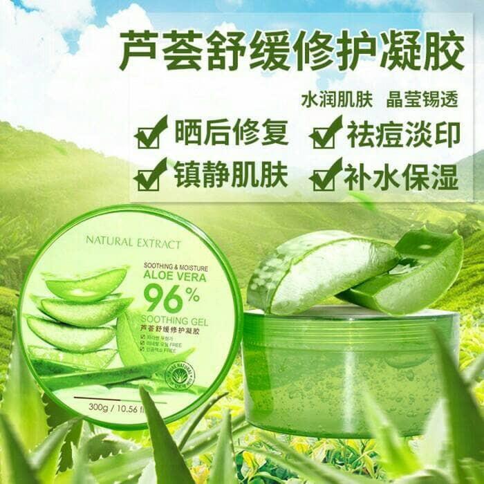 harga Natural extract aloe vera soothing gel 96% (bukan nature republic) Tokopedia.com