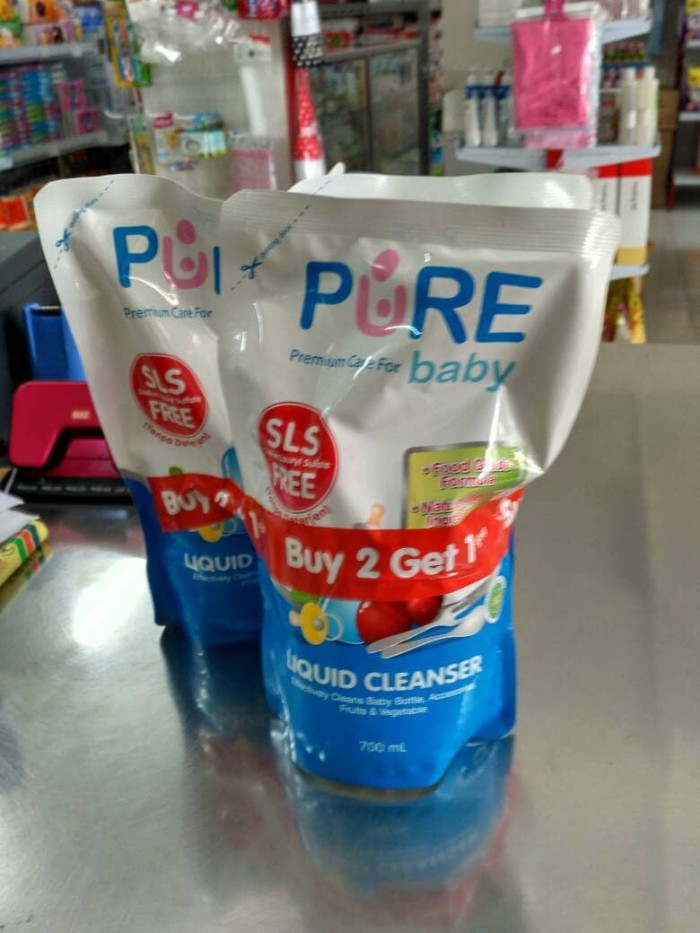 harga Sabun cuci botol pure baby liquid cleanser 700ml (buy 2 get 1 free Tokopedia.com