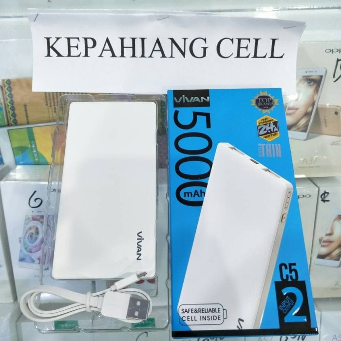 harga Powerbank vivan c5 5000 mah real capacity super slim dual input output Tokopedia.com