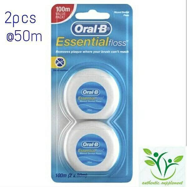Jual Oral B essential floss-Benang pembersih gigi- 2pcs - authentic ... ecb724f67c