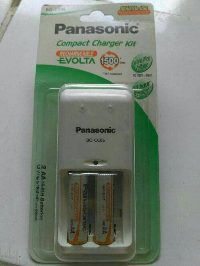 harga Panasonic evolta compact charger kit + 2pcs battery aa rechargeable Tokopedia.com